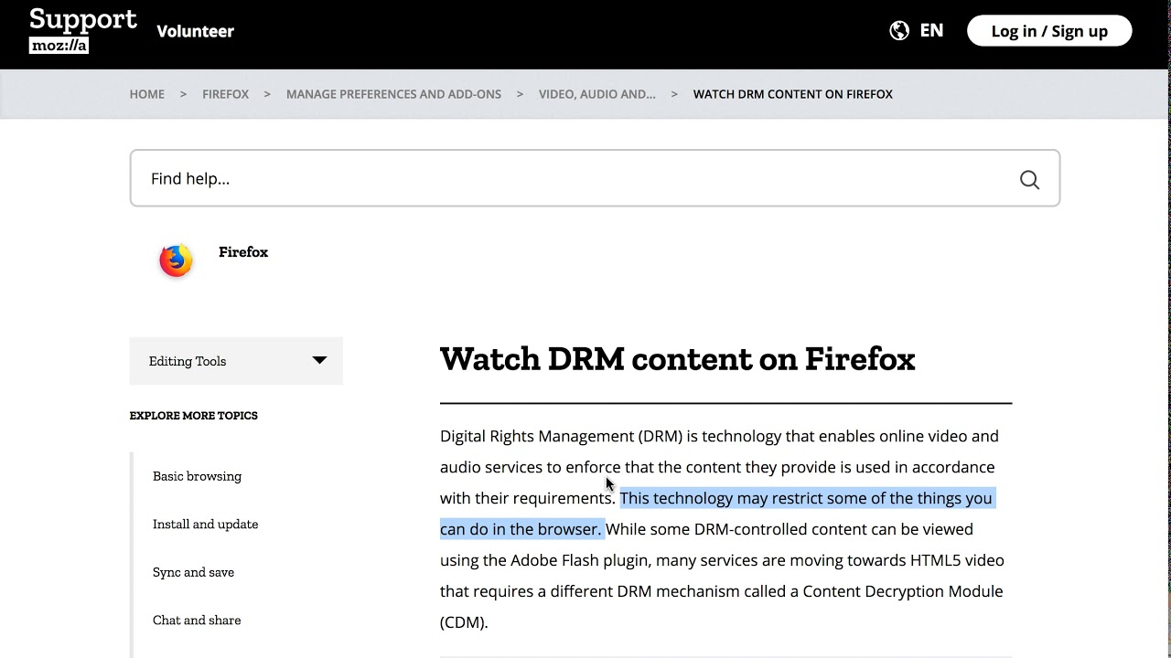 How To Enable Drm Content In Firefox Youtube