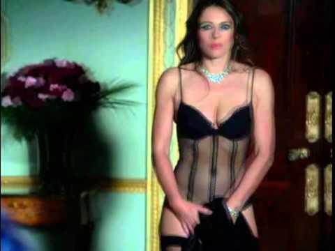 Elizabeth Hurley Wears Lingerie In The Royals