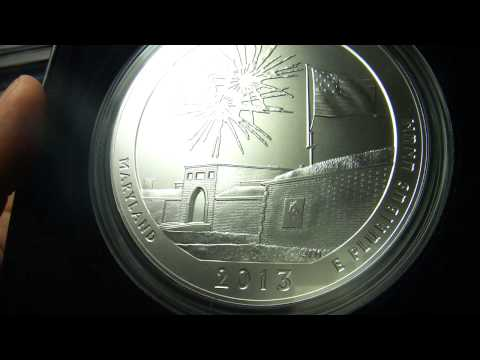 2013 America the Beautiful 5 Ounce Silver Coin™ - Fort McHenry National Monument Historic Shrine