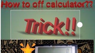 How to off calculator ct-512v  Tricks Arena🌟🌟