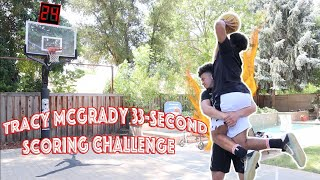 The Tracy McGrady 33-Second Basketball Challenge!!