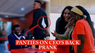 PANTIES ON CEO's BACK IN PUBLIC ( BEST REACTION) HILARIOUS PRANK
