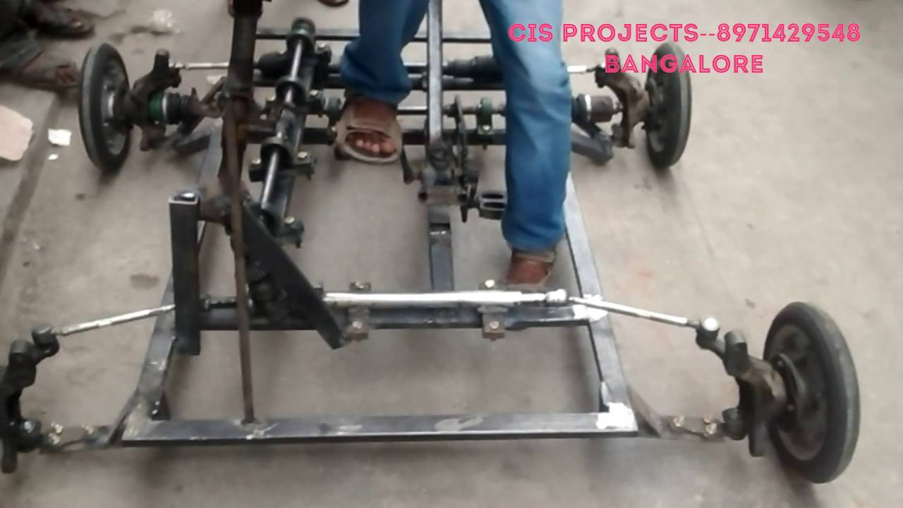 Innovative mechanical projects four wheel steering system for Benetton 4 wheel steering
