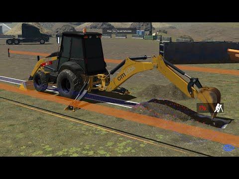 Backhoe Simulator Training Pack - CM Labs