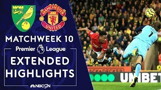 Norwich City V. Manchester United | Premier League Highlights | 10/27/19 | Nbc Sports