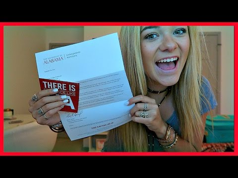 I GOT ACCEPTED TO THE UNIVERSITY OF ALABAMA