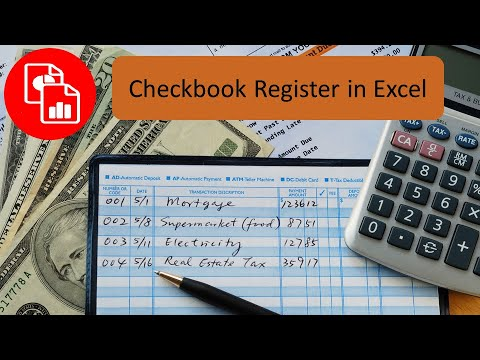 Create A Checkbook Register In Excel - Youtube