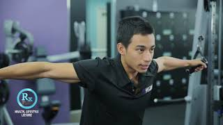 RX PLUS- ANYTIME FITNESS- CABLE CROSSOVER MACHINE