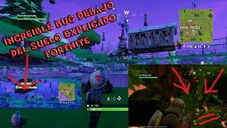 How to METRE UNDER THE FLOOR IN FORTNITE Awesome BUG!! (EXPLAINED AND WORKS) PS4 AND PC