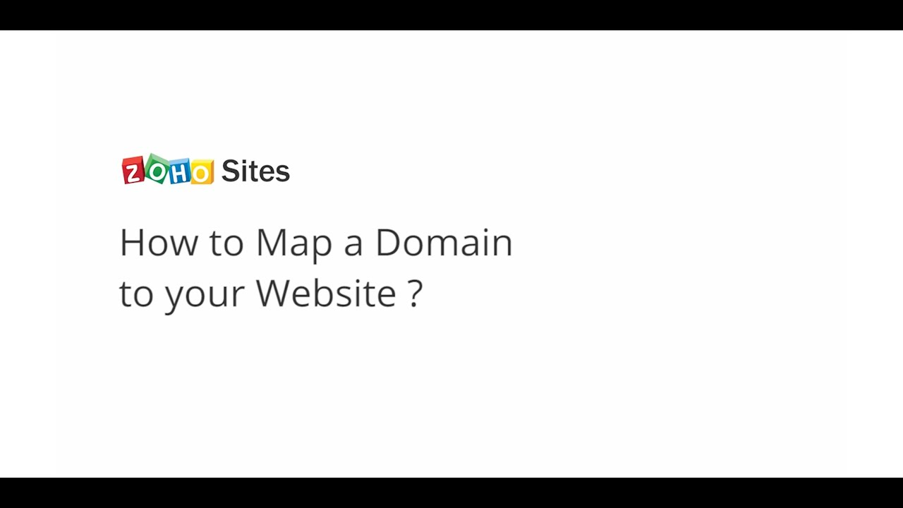 Zoho Sites: Mapping Your Domain - YouTube on
