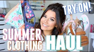 SUMMER HAUL + TRY ON  | TARGET, VICI, RUTHIEGRACE, MARSHALLS