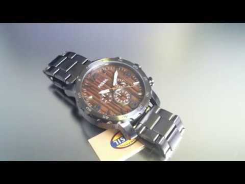 54245cc81dac Men s Fossil Nate Chronograph Watch JR1355 - YouTube