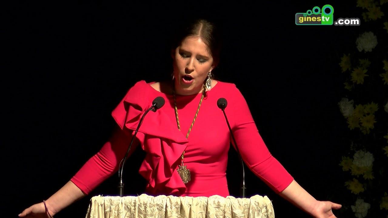 Gloria Jiménez pronunció el XV Pregón Joven del Rocío de Gines