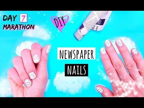 Newspaper Nails DIY - NAIL HACKS EVERY GIRL SHOULD KNOW