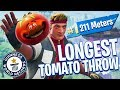 LONGEST TOMATO THROW *WORLD RECORD* in Fortnite Battle Royale!