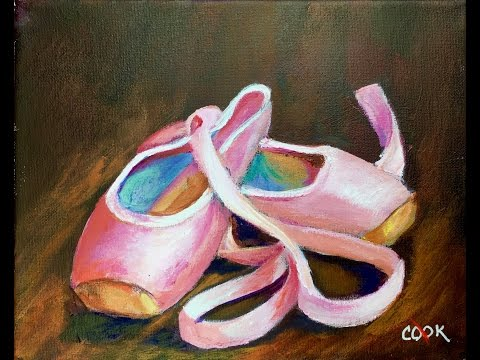 How to Paint Pink Ballet Slippers for the Beginner Acrylic Artist with Ginger Cook