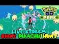 Pokemon Go PARK Live STREAM - SHINY PIKACHU OUTBREAK