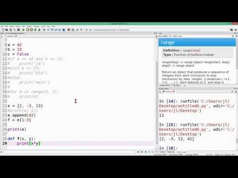 Python 3 auf die Schnelle