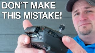 Mavic Pro Controller Fail - Don't Make This Mistake!