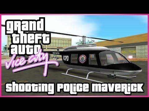 GTA Vice City : Shooting Police Maverick Mod