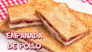 Empanada de Pollo Jamón Bacon y Queso   Receta muy Fácil y Rápida!