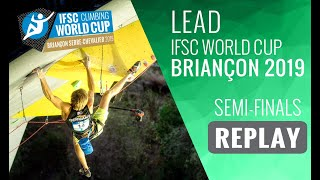 IFSC Climbing World Cup Briançon 2019 - Lead Semi-Finals