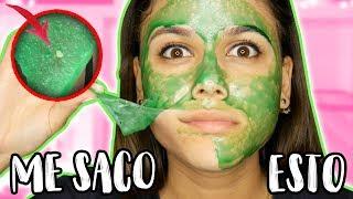 DIY MASCARILLA PARA PUNTOS NEGROS! - peel off face mask | Priscila