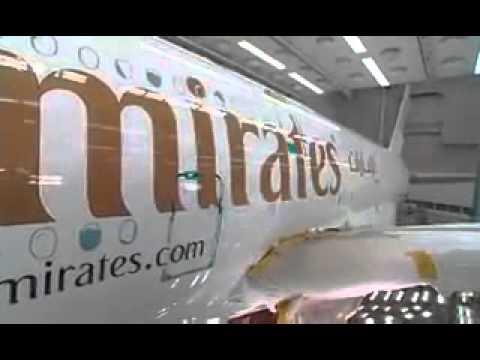 Making of Emirates airbus at Hamburg Germany