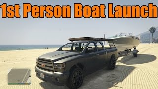 GTA 5 Xbox One/PS4 | First Person | Boat Launch and Jet Ski! | 1080p