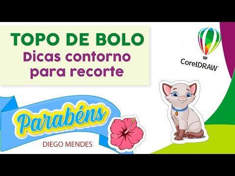Topo De Bolo - Dicas De Contorno Para Recorte - COREL DRAW