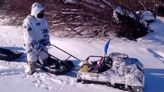 Испытания Мотособаки Baltmotors на Дальнем востоке 03.02.2017