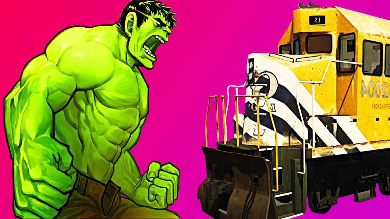 Uncategorized Hulk Videos For Kids hulk vs train funny superhero video for kids nursery rhymes children songs youtube