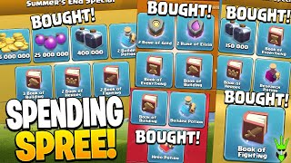 I BOUGHT ALL OF THESE PACKS!! - Clash of Clans