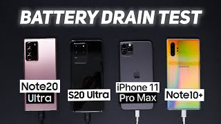 Note 20 Ultra Battery Drain Test vs S20 Ultra, iPhone, Note 10+