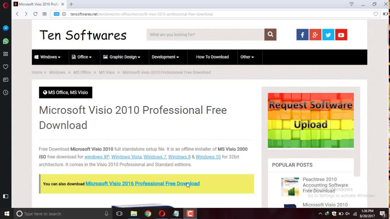 Free Download Microsoft Office Visio 2010