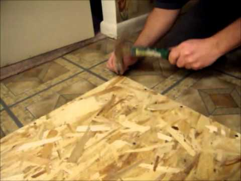 Kitchen floor make over for around 100 youtube for Easy to install kitchen flooring