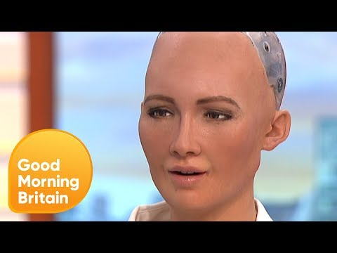 Humanoid Robot Tells Jokes on GMB! | Good Morning Britain