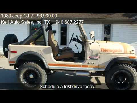 1980 jeep cj 7 renegade for sale in wichita falls tx 76301 youtube. Black Bedroom Furniture Sets. Home Design Ideas