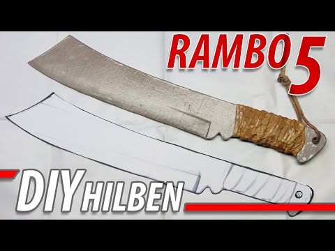 """Diy Rambo 5 Hilben Knife / Machete """"UNBELIEVABLE, this is realy Cardboard?"""" - """"YES"""" """"INSANE"""" (LOL)"""