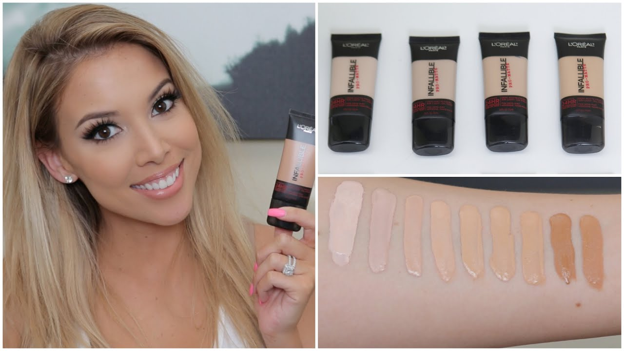 L'Oreal Infallible Pro Matte Foundation | Review, Swatches, Tips ...