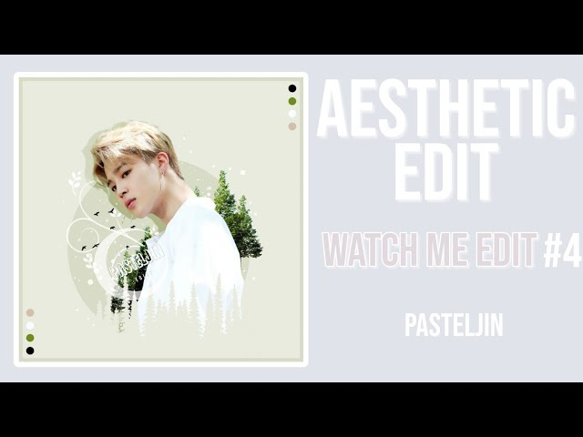 Aesthetic Jimin Edit - watch me edit #4 || pasteljin