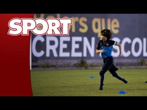 Gabriel Muniz asombró al FC Barcelona pese a sus limitaciones físicas