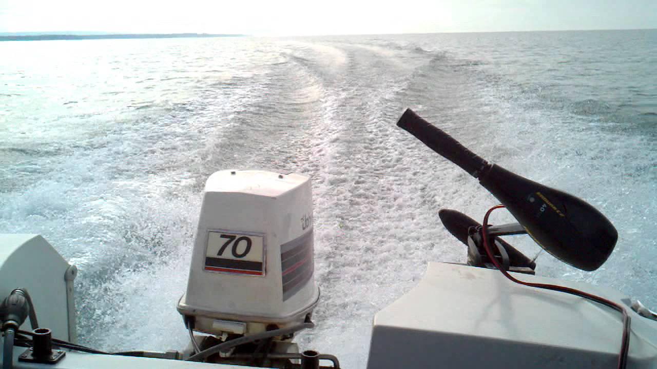 1982 johnson 70 hp on lake erie in february doovi for Morocco motors erie pa