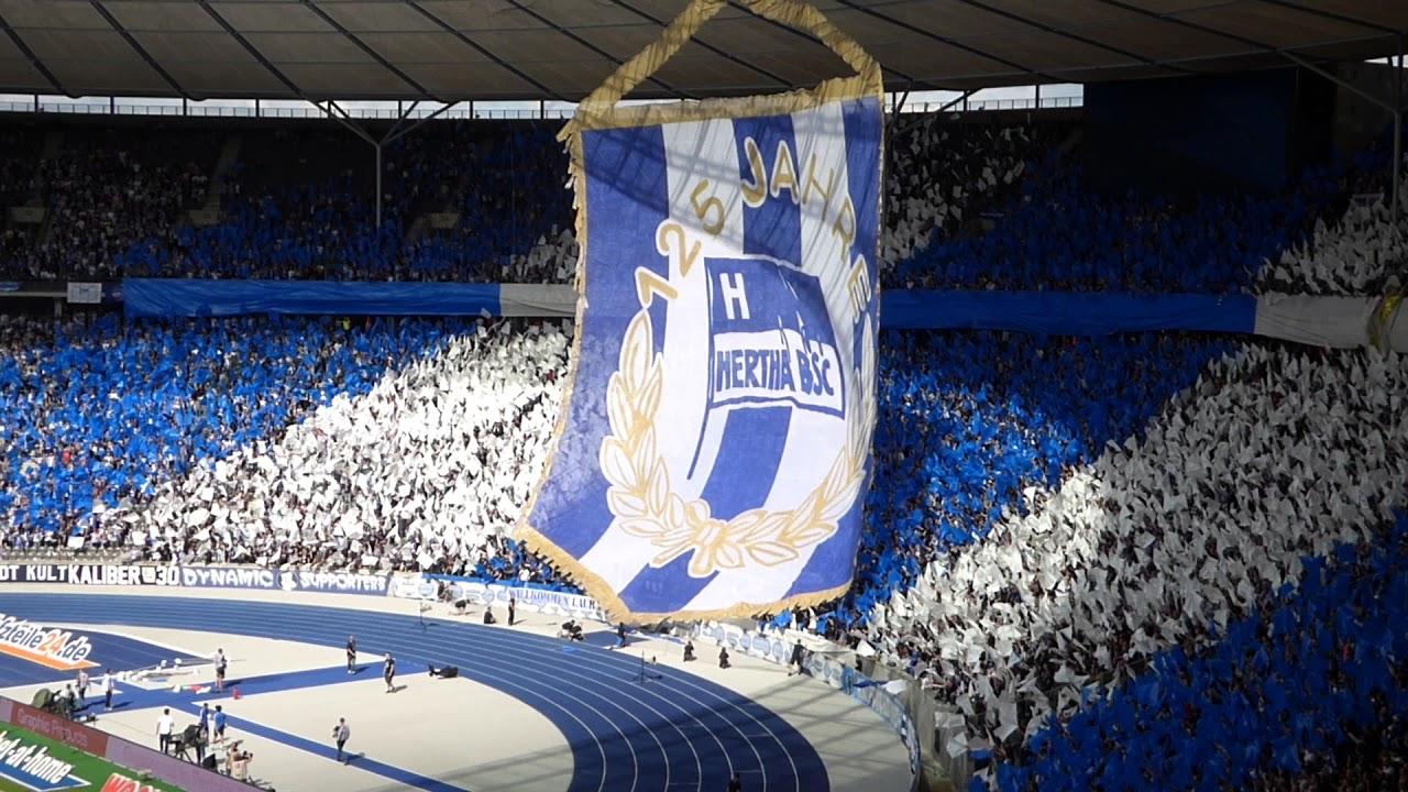 Choreo Hertha Bsc Ostkurve Vor Spiel Gegen Stuttgart Youtube