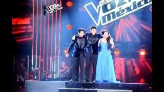 La final de la Voz México 2 - Eliminaciones - Ximena Villalon & Gerardo Bazúa HD - 16/12/12