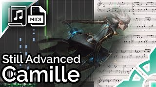 Camille login theme (simplified ver.) - League of Legends (Synthesia Piano Tutorial)