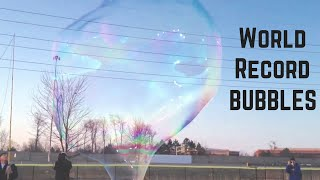 World Record Largest Soap Bubble