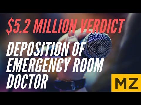 Deposition of Defendant's ER Doctor Expert