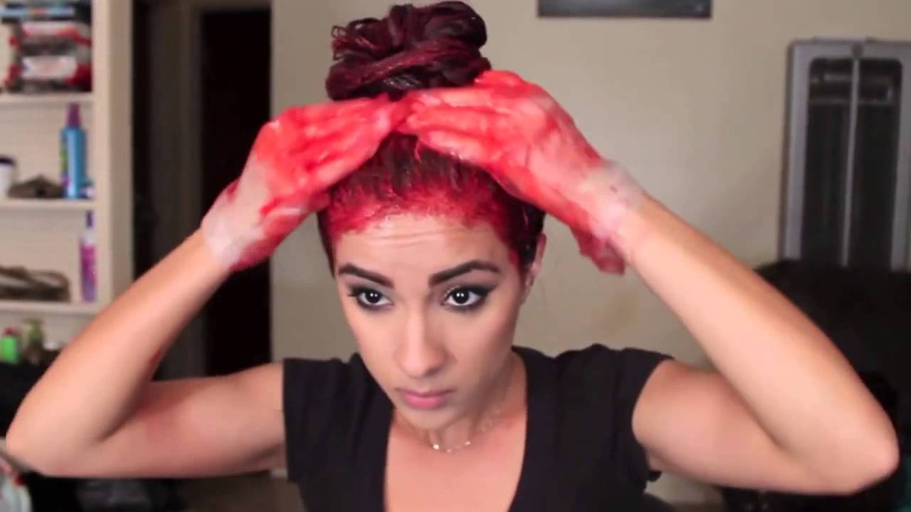 Dying my hair red red ombr hair tutorial youtube urmus Gallery