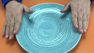 Видеообзор тарелки керамической закусочной «Аквамарин»